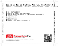 Zadní strana obalu CD Janáček: Taras Bulba, Amarus, Sinfonietta