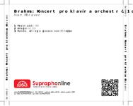 Zadní strana obalu CD Brahms: Koncert pro klavír a orchestr č. 1 d moll