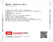 Zadní strana obalu CD Ravel: Klavírní dílo
