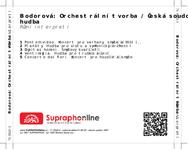 Zadní strana obalu CD Bodorová: Orchestrální tvorba / Česká soudobá hudba