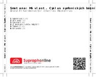Zadní strana obalu CD Smetana: Má vlast. Cyklus symfonických básní