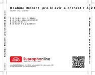 Zadní strana obalu CD Brahms: Koncert pro klavír a orchestr č. 2 B dur