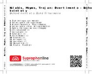 Zadní strana obalu CD Kalabis, Moyzes, Trojan: Divertimento - Dechové kvintety