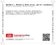 Zadní strana obalu CD Seifert: Píseň o Viktorce, Jarní rondeau