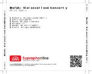Zadní strana obalu CD Dvořák: Violoncellové koncerty