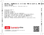 Zadní strana obalu CD Bizet: Symfonie č. 1 C dur Malá suita, Dětské hry, Vlast