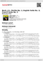 Digitální booklet (A4) Bach, J.S.: Partita No.1; English Suite No.3; French Suite No.2
