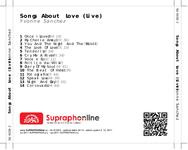 Zadní strana obalu CD Songs About Love (Live)
