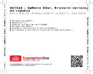 Zadní strana obalu CD Voříšek : Symfonie D dur, Bravurní variace, Introdukce
