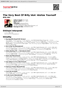 Digitální booklet (A4) The Very Best Of Billy Idol: Idolize Yourself