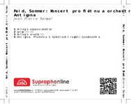 Zadní strana obalu CD Feld, Sommer: Koncert pro flétnu a orchestr, Antigona