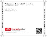 Zadní strana obalu CD Andersen: Druhý vějíř pohádek