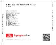Zadní strana obalu CD Z Prlova do New York City