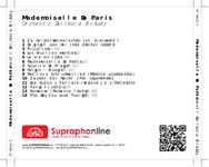Zadní strana obalu CD Mademoiselle De Paris