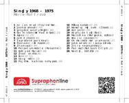 Zadní strana obalu CD Singly 1968 - 1975
