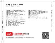 Zadní strana obalu CD Singly 1976 - 1989