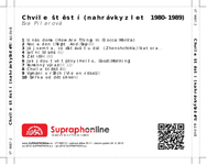 Zadní strana obalu CD Chvíle štěstí (nahrávky z let 1980-1989)
