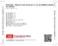 Zadní strana obalu CD Benda: Houslové koncerty z drážďanských archívů
