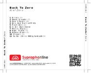 Zadní strana obalu CD Back To Zero