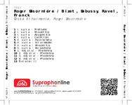 Zadní strana obalu CD Roger Désormiére / Bizet, Debussy, Ravel, Franck