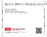 Zadní strana obalu CD Foerster: Symfonie č. 4 Veliká noc, Jaro a touha
