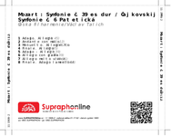 Zadní strana obalu CD Mozart: Symfonie č. 39 es dur / Čajkovskij : Symfonie č. 6 Patetická