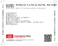 Zadní strana obalu CD Janáček: Sinfonietta,Taras Bulba, Putování dušičky