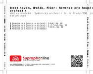 Zadní strana obalu CD Beethoven, Dvořák, Fišer: Romance pro housle a orchestr