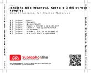 Zadní strana obalu CD Janáček: Káťa Kabanová. Opera o 3 dějstvích - komplet