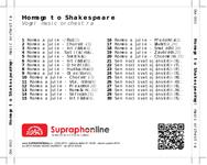 Zadní strana obalu CD Homage to Shakespeare