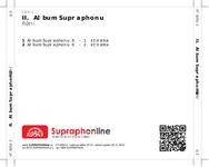 Zadní strana obalu CD II. Album Supraphonu