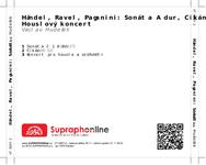 Zadní strana obalu CD Händel, Ravel, Paganini: Sonáta A dur, Cikán, Houslový koncert