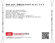 Zadní strana obalu CD Smetana: Smyčcové kvartety č. 1 a 2