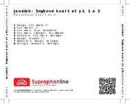 Zadní strana obalu CD Janáček: Smyčcové kvartety č. 1 a 2