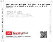 Zadní strana obalu CD Beethoven: Koncert pro housle a orchestr D dur, Romance pro housle a orchestr č. 1 a 2
