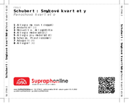 Zadní strana obalu CD Schubert: Smyčcové kvartety