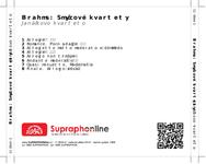 Zadní strana obalu CD Brahms: Smyčcové kvartety