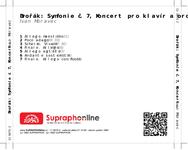 Zadní strana obalu CD Dvořák: Symfonie č. 7, Koncert pro klavír a orch.