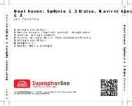Zadní strana obalu CD Beethoven: Symfonie č. 3 Eroica, Klavírní koncert č. 2