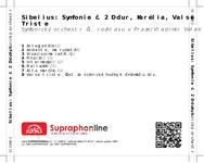 Zadní strana obalu CD Sibelius: Symfonie č. 2 D dur, Karélia, Valse Triste