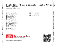 Zadní strana obalu CD Bach: Koncerty pro cembalo (podle Antonia Vivaldiho)
