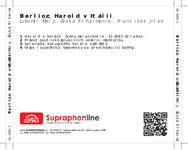 Zadní strana obalu CD Berlioz: Harold v Itálii