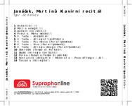 Zadní strana obalu CD Janáček, Martinů: Klavírní recitál
