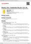 Digitální booklet (A4) Mozart, W.A.: Symhonies Nos.36, 33 & 39