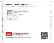 Zadní strana obalu CD Mozart: Divertimenta