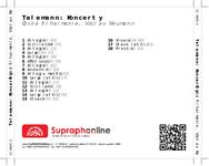 Zadní strana obalu CD Telemann: Koncerty