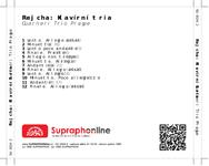 Zadní strana obalu CD Rejcha: Klavírní tria