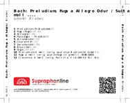 Zadní strana obalu CD Bach: Preludium, Fuga a Allegro D dur / Suita e moll ....
