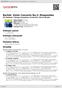 Digitální booklet (A4) Bartók: Violin Concerto No.2; Rhapsodies