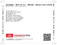 Zadní strana obalu CD Janáček, Foerster, Novák: Houslové sonáty